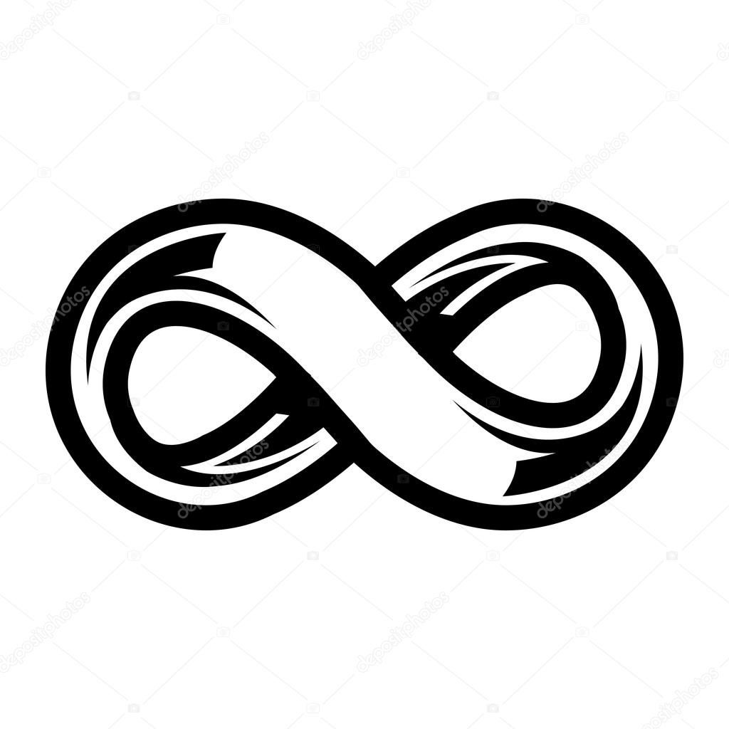 Infinity Loop Symbol vector icon — Stock Vector ...