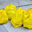 Garbage bags on the street — Stock Photo #51861779