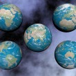 Continents on the earth - 3D render — Stock Photo #52249507