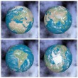 Continents on the earth - 3D render — Stock Photo #53391861