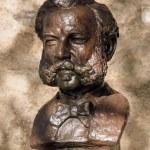 ������, ������: Bronze statue of Henri or Henry Dunant Geneva Switzerland