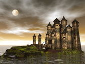 Castle - 3D render — Stockfoto
