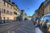 Street in old Carouge city, Geneva, Switzerland — Stock Photo