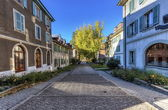 Street in old Carouge city, Geneva, Switzerland — Foto de Stock
