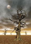 Dead tree - 3D render — Stock Photo