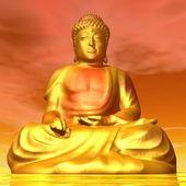 Buddha - 3D render — Stock Photo