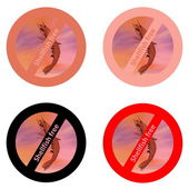 Stickers for shellfish free products — Stock Photo