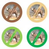 French stickers for vegan food — Stockfoto
