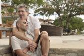 Portrait of a gay couple — Foto de Stock