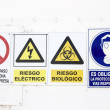 Hazard and danger signs — Stock Photo #65928835