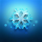 Blue snowflake — Stock Photo