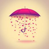 Deštník se srdíčky — Stock fotografie