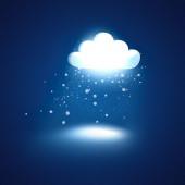 Glowing cloud — Stock Photo