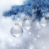 Silver Christmas background — Stockfoto