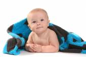Happy Adorable Baby on a White Background — Stock Photo