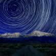 Night Exposure Star Trails of the Sky in Bishop California — Stock Photo #63538723