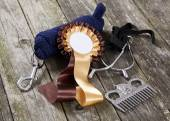 Equestrian sport accessories — Stock Photo