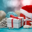 Christmas gift boxes in snow — Stock Photo #58008661