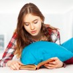 Teenage girl in her room — Stock Photo #65151331