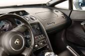 WROCLAW, POLAND: JUNE 28, 2014: Interior of a Lamborghini sportscar on a motor show in Wroclaw — Stock Photo