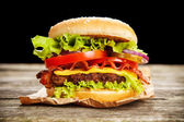 Deliciosas hamburguesas — Foto de Stock