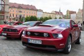 Mustang Race start in Wroclaw, Poland — Stock Photo