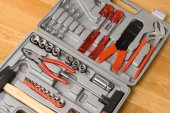 Toolbox with different instruments — Stock Photo