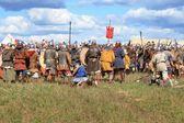 Medieval battle show Voinovo Pole (Warriors' Field) — Stock Photo