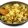 Fried potatoes at home in a frying pan — Stock Photo #68846301
