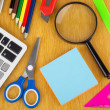 Background from Various office supplies — Stock Photo #69437539