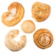 Various baking some delicious sweet rolls — Stock Photo #70657897
