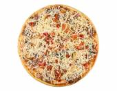 Semi-finished frozen pizza isolated on white — Stock Photo
