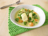 Fish soup with vegetables — Stock Photo