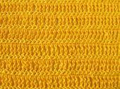 Crochet pattern from single and triple crochet stitch in yellow — Foto de Stock