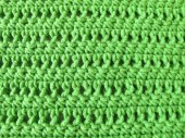 Crochet pattern from single and double crochet stitch in limegreen — Stock Photo