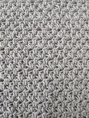 Crochet pattern background in grey — Stock Photo