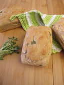Mini breads with sprouts — Stock Photo