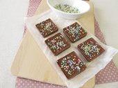 Homemade chocolate with sugar pearls — Stock Photo