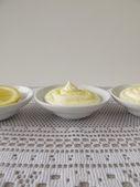 Lemon curd cheese dessert — Stock Photo