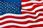 US flag rippling in wind — Stock Photo