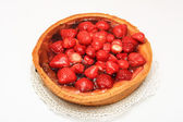 Strawberry pie on a plate — Stock Photo
