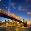 New York City Manhattan in memory of September 11 — Stock Photo #54571211