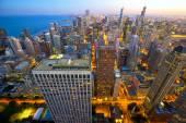Chicago at dusk — Stock Photo