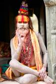 Nepalese sadhu man — Stock Photo