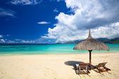 Tropická pláž s pískem — Stock fotografie
