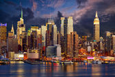 Midtown manhattan skyline — Stockfoto