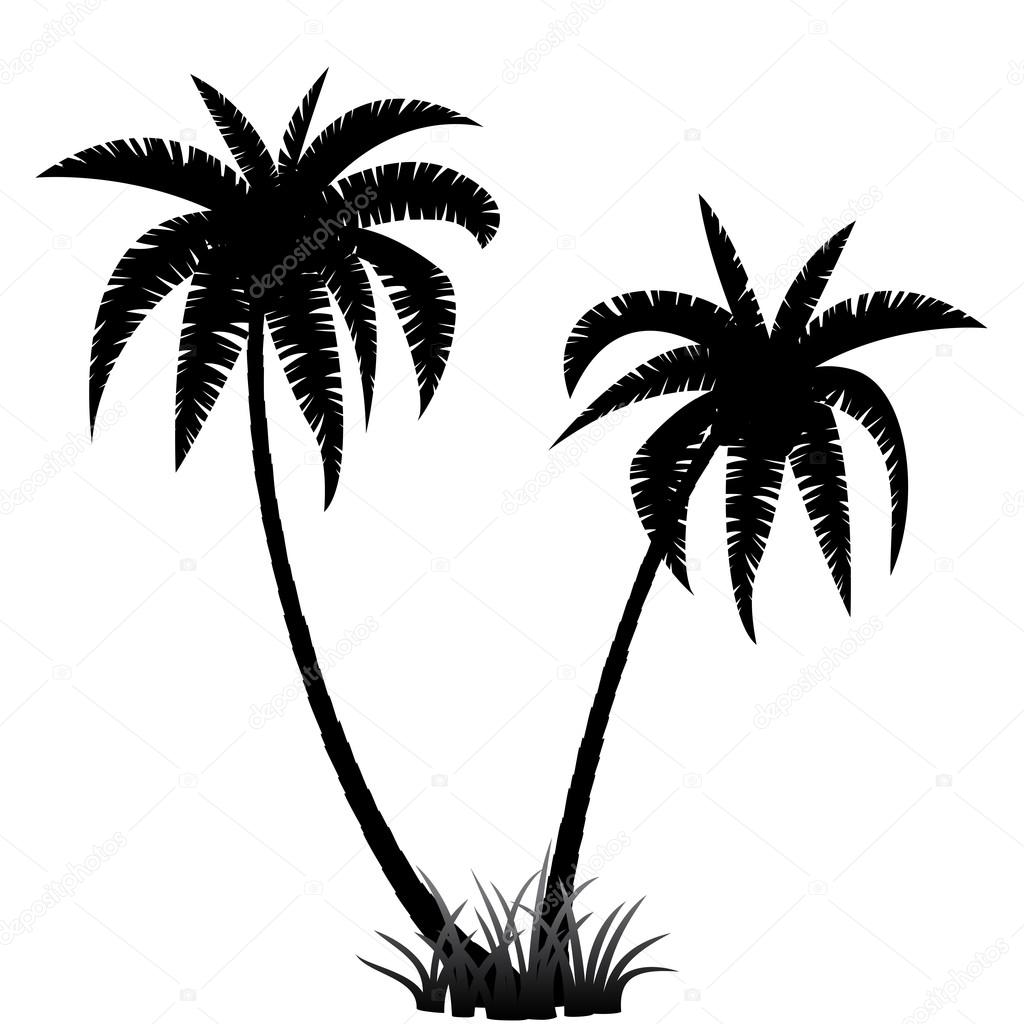 palm trees silhouette stock vector  u00a9 dibrova 74147425 palm tree silhouette vector free palm tree silhouette vector free download