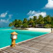 Jetty to a tropical beach — Stock Photo #66896291