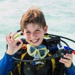 Scuba diver boy — Stock Photo #66898511