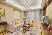 роскошная гостиная интерьер — Стоковое фото